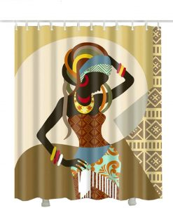 African American fabric shower curtain 2018