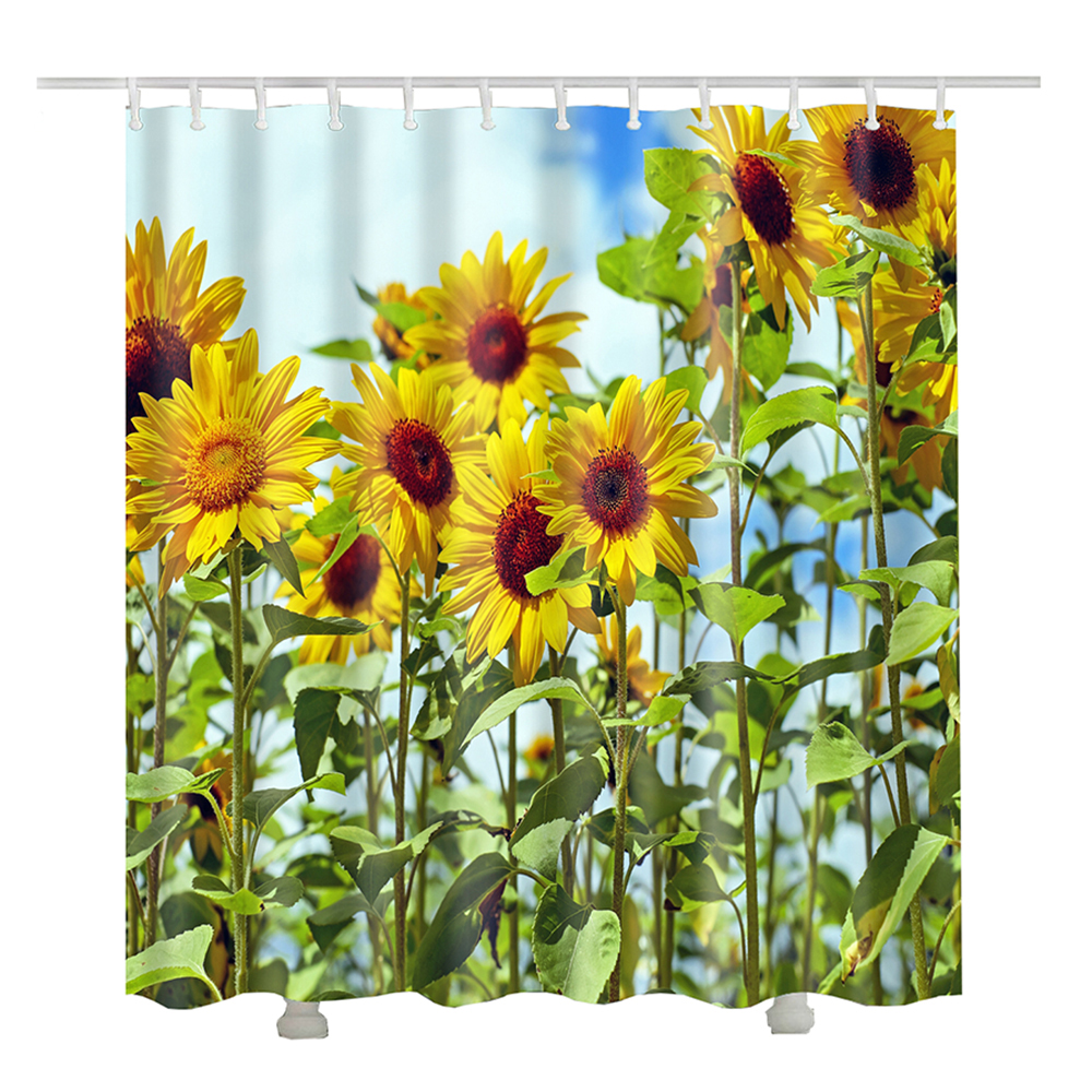Sunflower Shower Curtain For The Bathroom Curtains