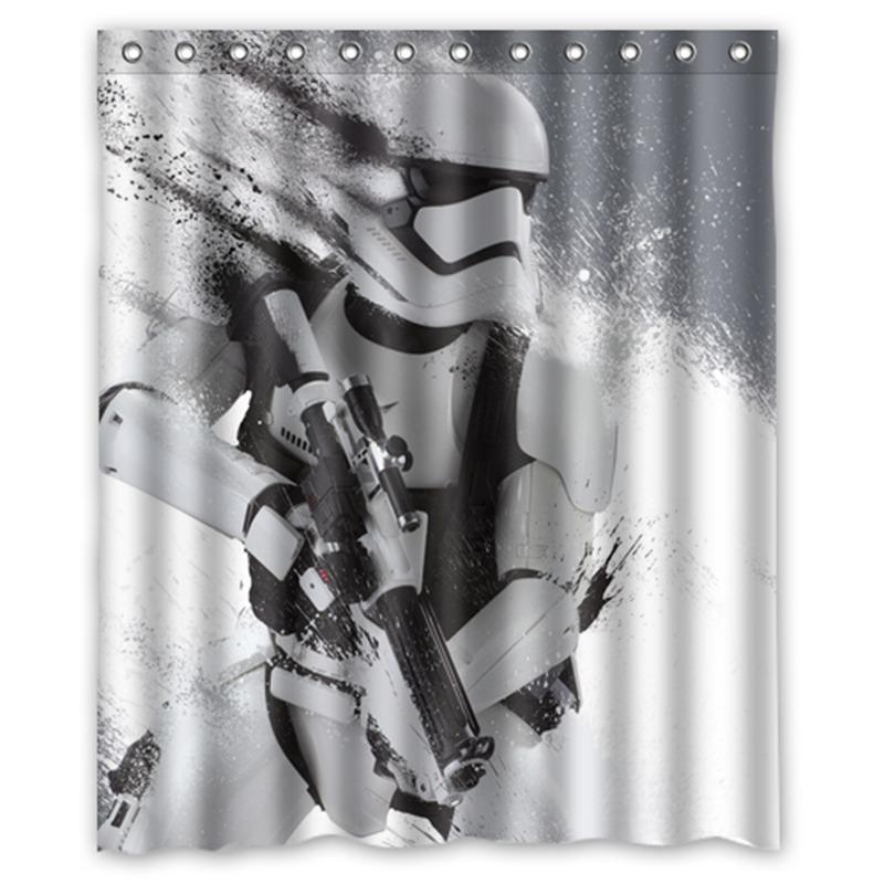 Star Wars Stormtrooper Custom Designer Waterproof Shower Curtains