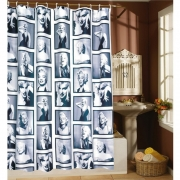 Waterproof Marilyn Monroe Pattern Decorative Bathroom Shower Curtains