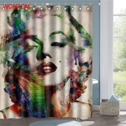 Colorful Marilyn Monroe Polyester Fabric Shower Curtain