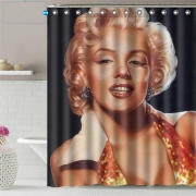 Marilyn Monroe Waterproof Shower Curtain Sexy Girl Bathroom Decor