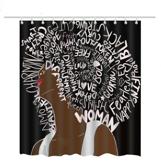 Afro African American Shower Curtain 2018