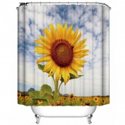 Sunflower shower curtain with amazing colors 2018 design