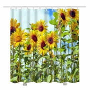 Sunflower shower curtain for the bathroom 3d shower curtains