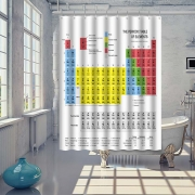 Periodic table of elements Shower Curtain Rail Pole With Hooks