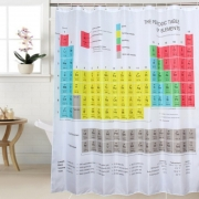 Periodic Table pattern Waterproof shower curtain