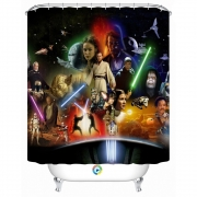 Star wars banner shower curtain Custom