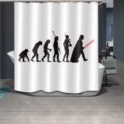Evolution Of Star Wars Fabric Waterproof Bathroom Shower Curtain With 12 Hooks
