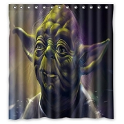 Yoda Star wars Art Bathroom Shower Curtains