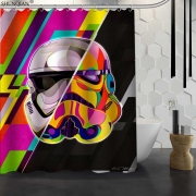 {12 Different} Star Wars Custom Shower Curtains of Stromtooper, Yoda, Darth Vedar print