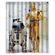 R2D2 Star Wars Robot waterproof  bathroom shower curtain