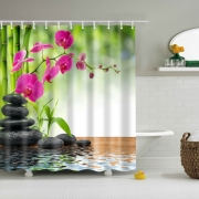 3D HD Digital Printed Bathroom Shower Curtains