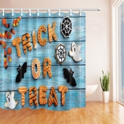 {12 diff} Halloween Series 3D Digital Printing Thick Polyester Waterproof Shower Curtains