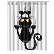 3D print Cat Dog Bath Curtain Waterproof