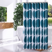 3D Printed Shapes Waterproof {8 Colors} Bathroom Curtains