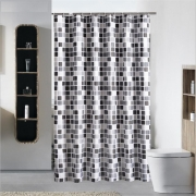 High Defination 3D Geometric Pattern Bathroom curtain {6 diff}