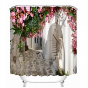 7 new 3D Shower Curtain Flowers landscape Wall Pattern Bathroom Shower Curtain