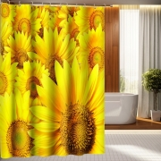 [5Colors] Simple Sunflower Shower Curtains