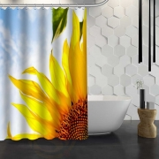 {21 Colors} Waterproof Sunflower Shower Curtains
